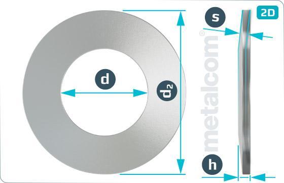 Podložky pružné talířové pružiny (tvar C)