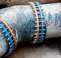 Water lines, sewerage systems