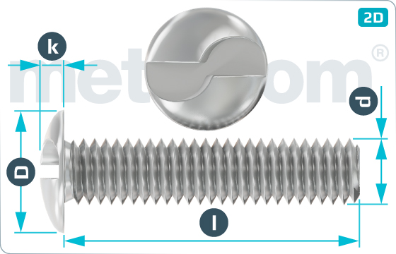 Bezpečnostní šrouby s půlkulatou hlavou pro jednorázové použití - RuKo