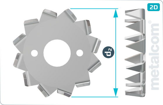 Pojistné kroužky pro dřevěné konstrukce typ C2 (Bulldog) - DIN 1052 TypC2