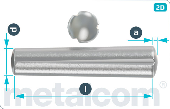 Grooved pins taper gooved - DIN 1471