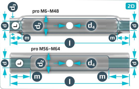 Napínače matice pro napínače z ocelových trubek - DIN 1478 SP