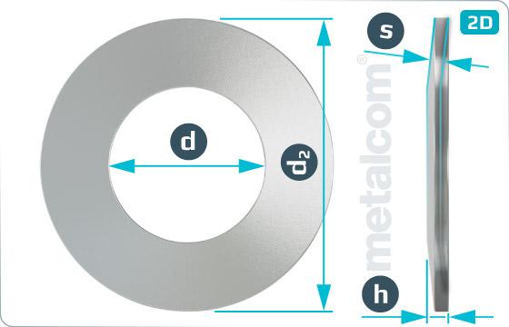 Spring washers disc springs ( form C ) - DIN 2093