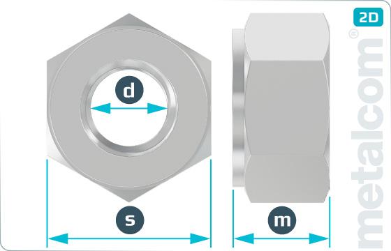 Matice šestihranné na přírubové spoje - DIN 2510 NF