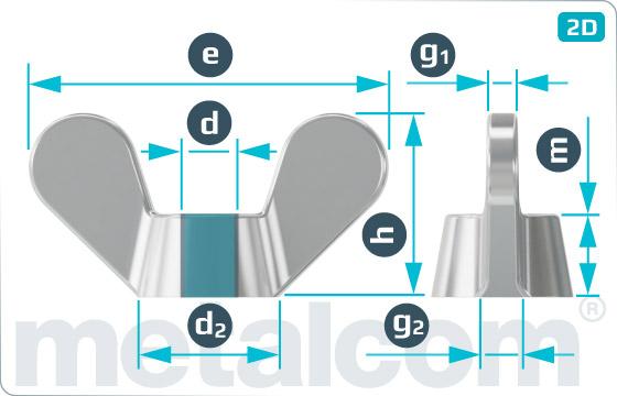 Matice ostatné krídlové (liate) - DIN 315