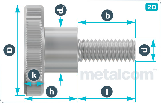 Knurled thumb screws high type - DIN 464