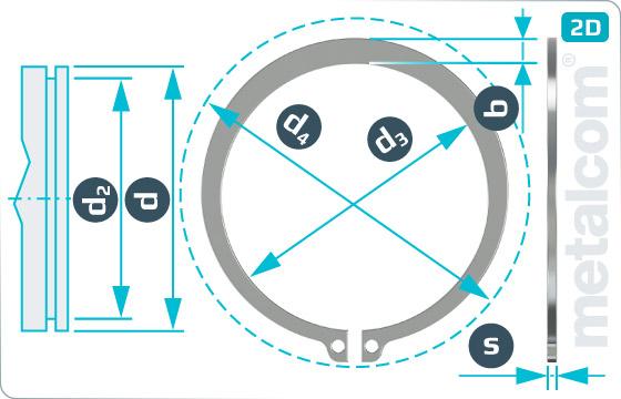 Pojistné kroužky pro hřídele - DIN 471