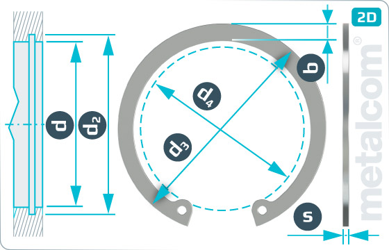 Pojistné kroužky pro díry - DIN 472