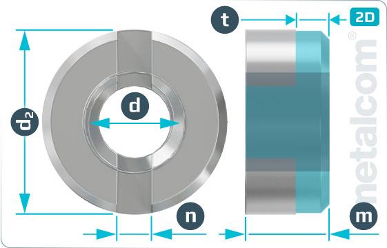 Matice se zářezy kruhové - DIN 546