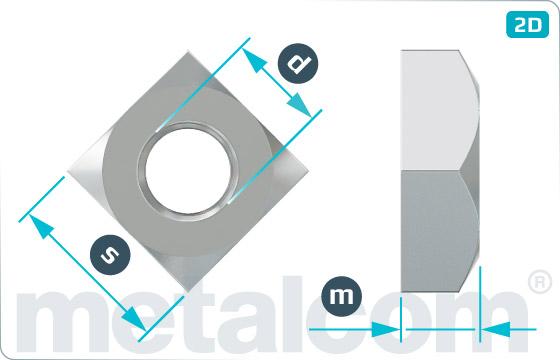 Vierkantmuttern hohe Form - DIN 557