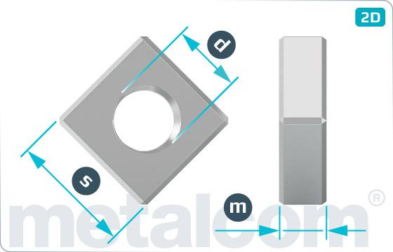 Nakrętki kwadratowe niskie - DIN 562