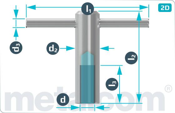 Matice pro ruční utahování pevné - DIN 6305