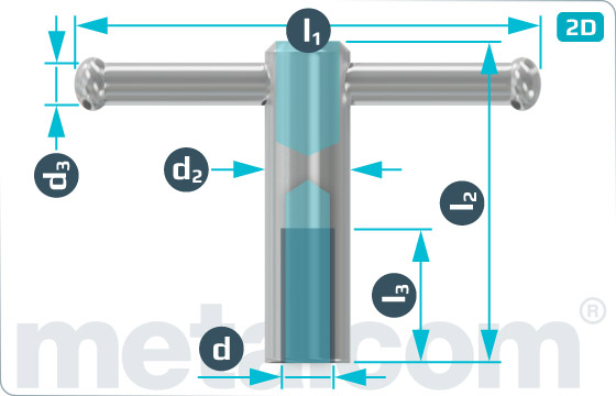 Matice pro ruční utahování volné - DIN 6307
