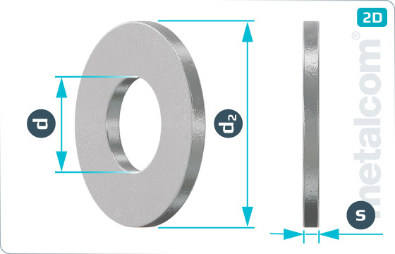 Plain washers for clamping devices - DIN 6340