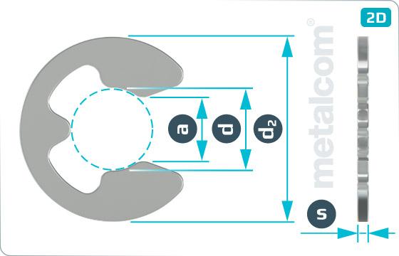 Pojistné kroužky třmenové - DIN 6799