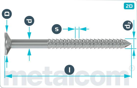 Hřebíky se zápustnou hlavou konvexní - DIN 68163 K