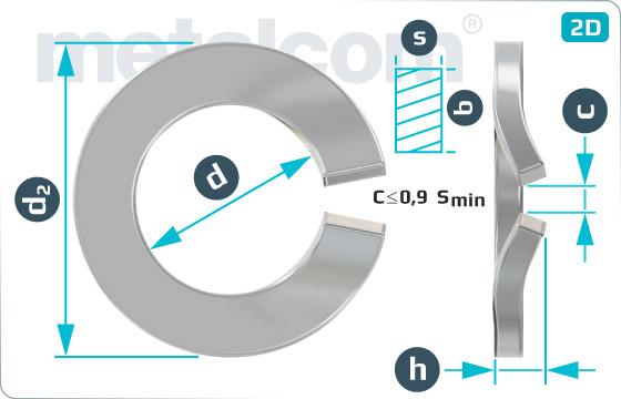 Podložky pružné prohnuté pro kombinované šrouby - DIN 6905 A