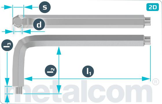 L-Klíče s čepy pro šrouby s vnitřním šestihranem DIN 6912 - DIN 6911