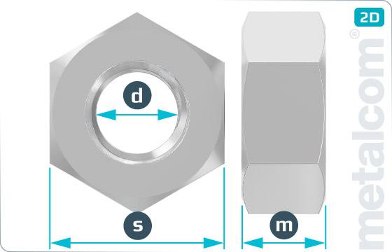 Hexagon nuts large width across flat - DIN 6915
