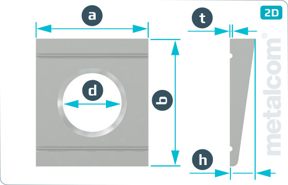 Podkładki kwadratowe klinowe do ceowników HV - DIN 6918
