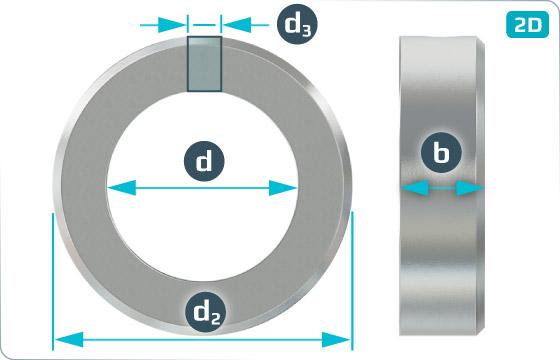 Podložky ploché stavěcí kroužky s dírou - DIN 705 B