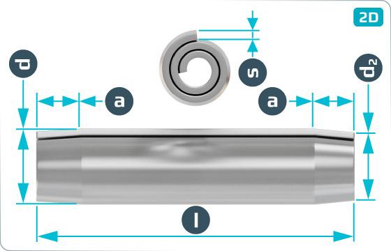Kolíky pružné spirálové, těžké provedení - DIN 7344