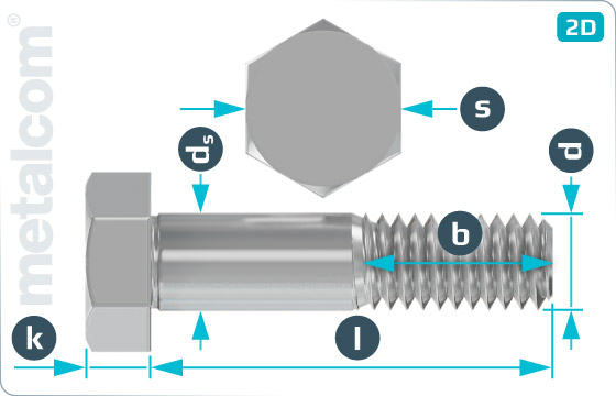 Hexagon head fitted bolts for steel structures - DIN 7968