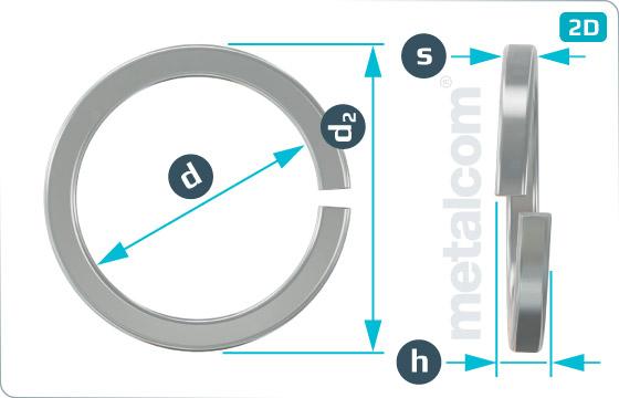 Podložky pružné so štvorcovým prierezom - DIN 7980