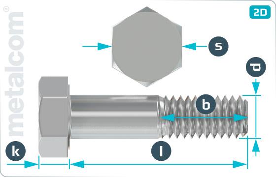 Śruby z łbem sześciokątnym do konstrukcji stalowych - DIN 7990