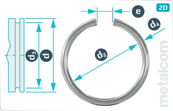 Pojistné kroužky drátěné kroužky pro hřídele - DIN 7993 A