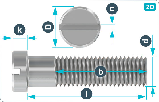 Slotted screws small cheese head - DIN 920
