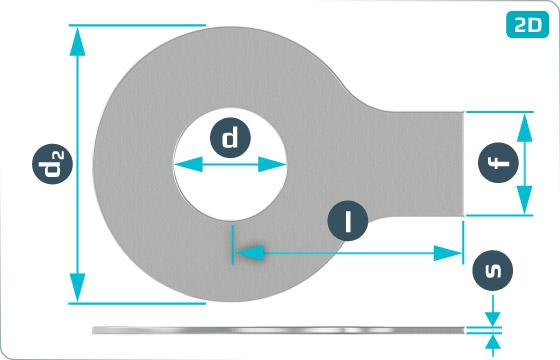 Podkładki płaskie z językiem - DIN 93