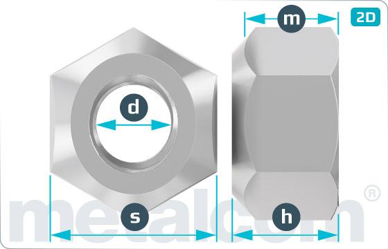 Matice šestihranné samojistné celokovové - DIN 980 V