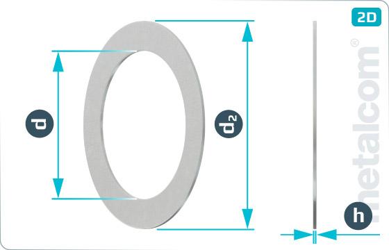 Podložky ploché distanční - DIN 988