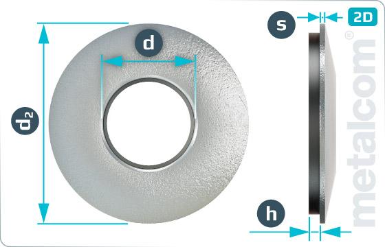 Podložky těsnící s EPDM těsněním pro šrouby se šestihrannou hlavou - EPDM