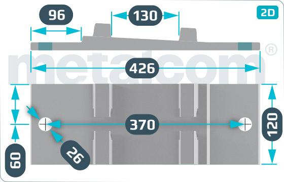 Podkładki do szyn żebrowe ŽT - DK-4-320-93