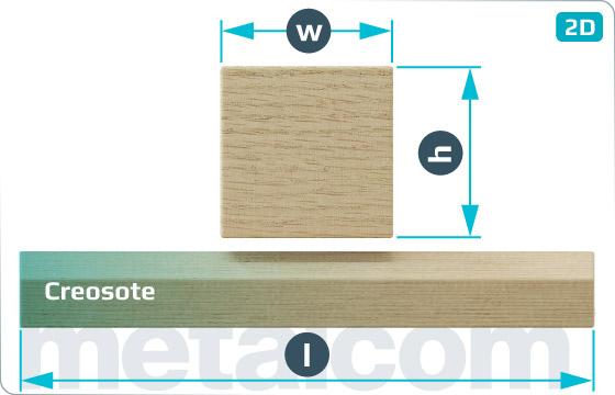 Dřevěné pražce mostnicové - M
