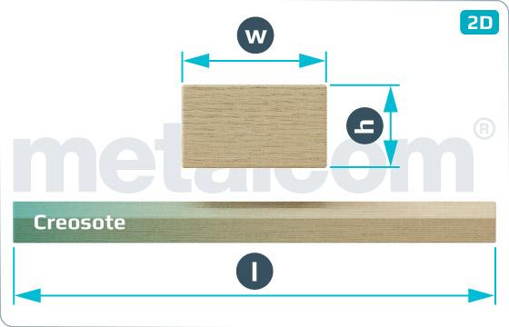 Dřevěné pražce výhybkové - EN 13145