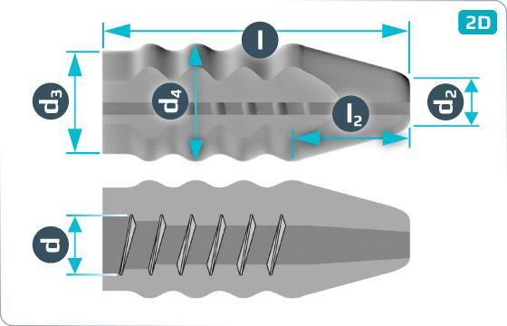 Dowels for concrete sleepers (PE) - HRBP