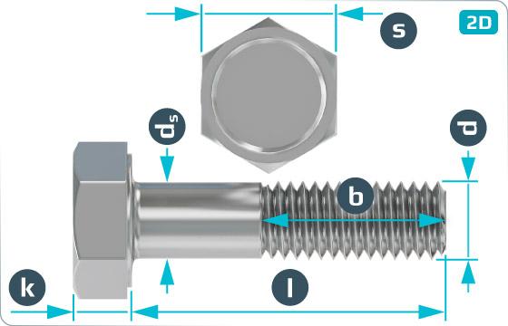 Hexagon bolts for buffers