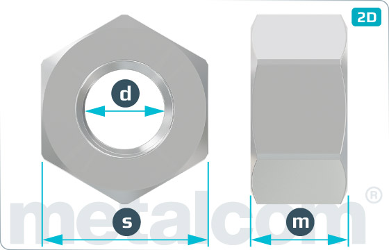 Matice šestihranné M 22 - K072201D