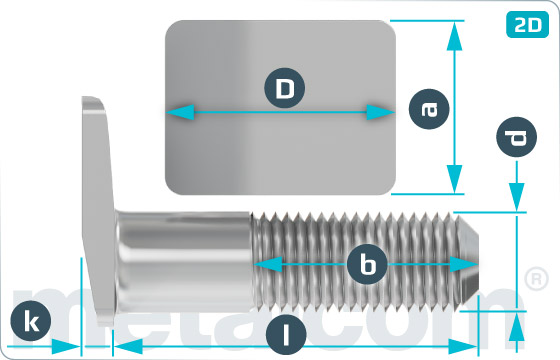 Šrouby pro opornicové opěrky - K102451