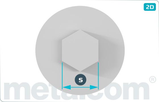 Krytky pro šrouby s vnitřním šestihranem - Grau