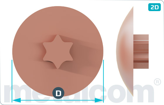 Krytky na zápustné skrutky s drážkou TORX - Weiss, Hellbraun, Dunkelbraun, Rehbraun
