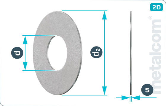 Plain washers for mud-guards - KaroSch