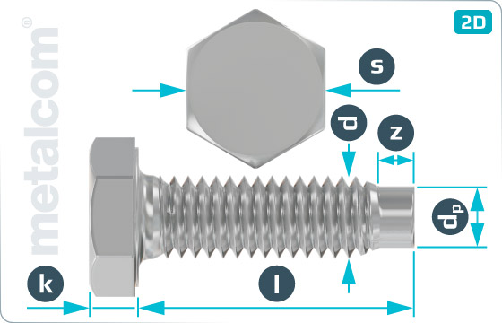 Hexagon screws for tubular scaffolding