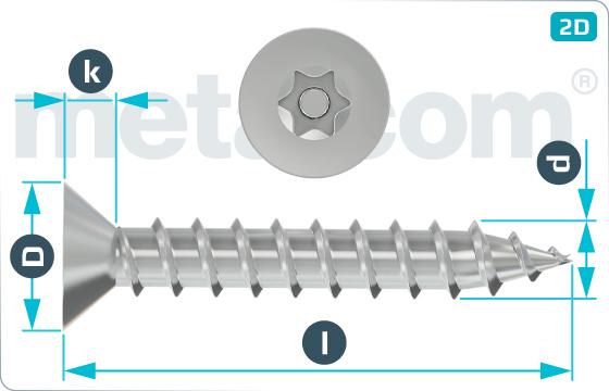 Bezpečnostné skrutky do plechu so zápustnou hlavou a drážkou TORX - SeKo
