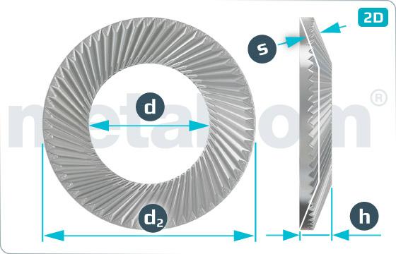 Lock washers SCHNORR ( form VS )