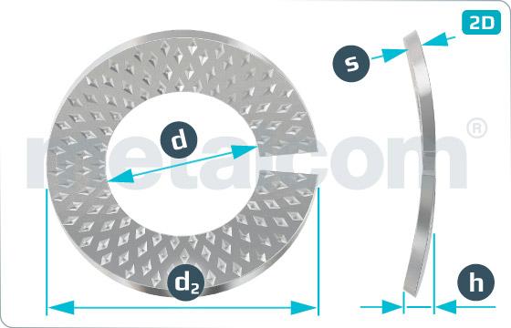 Pojistné kroužky kontaktní typ VSK (~BN208012-T6-A) - VSK
