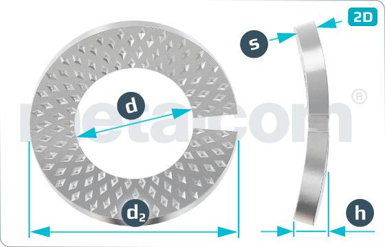 Pojistné kroužky kontaktní typ VSKZ - VSKZ